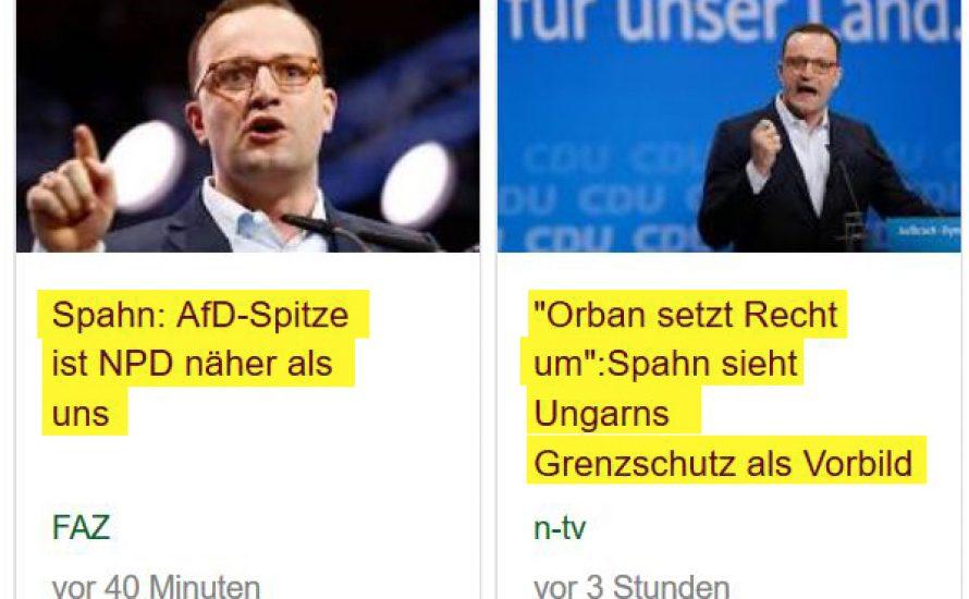 """Spahn will die AfD mit rassistischer Hetze """"überflüssig machen"""""""