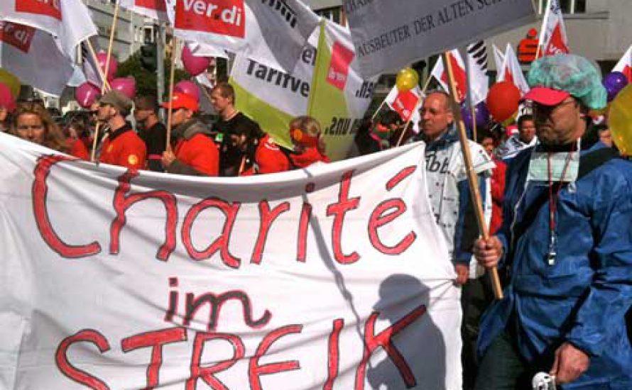 Solidaritäts-Erklärung von Studierenden für die streikenden KollegInnen der Charité
