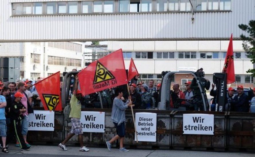 Solidarität mit dem Streik bei Halberg-Guss