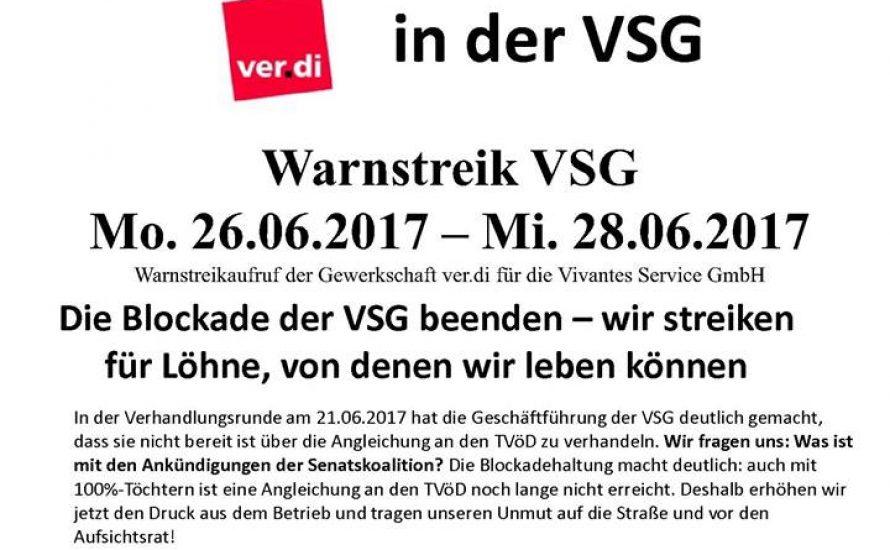 Streiks bei der Vivantes Service Gesellschaft gehen in die nächste Runde