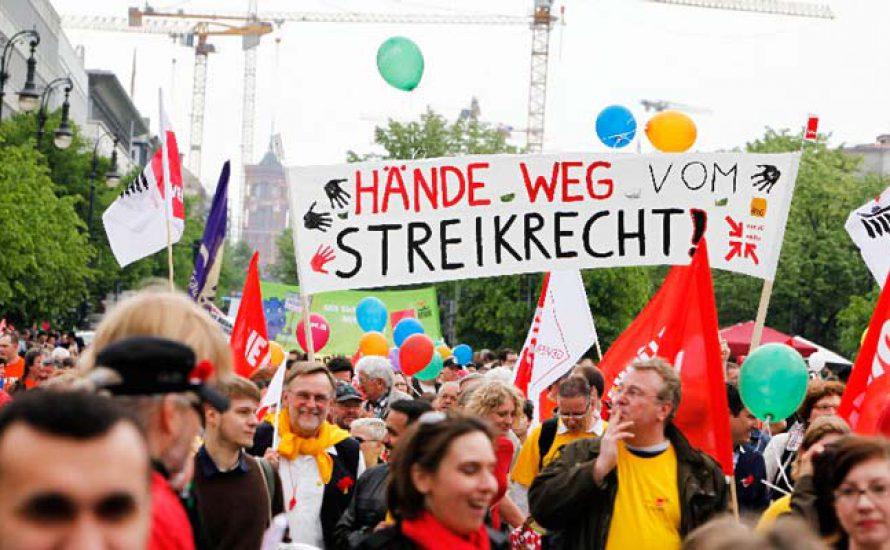 """""""Die Einschränkung des Streikrechts ist ein Angriff auf alle Lohnabhängigen."""""""