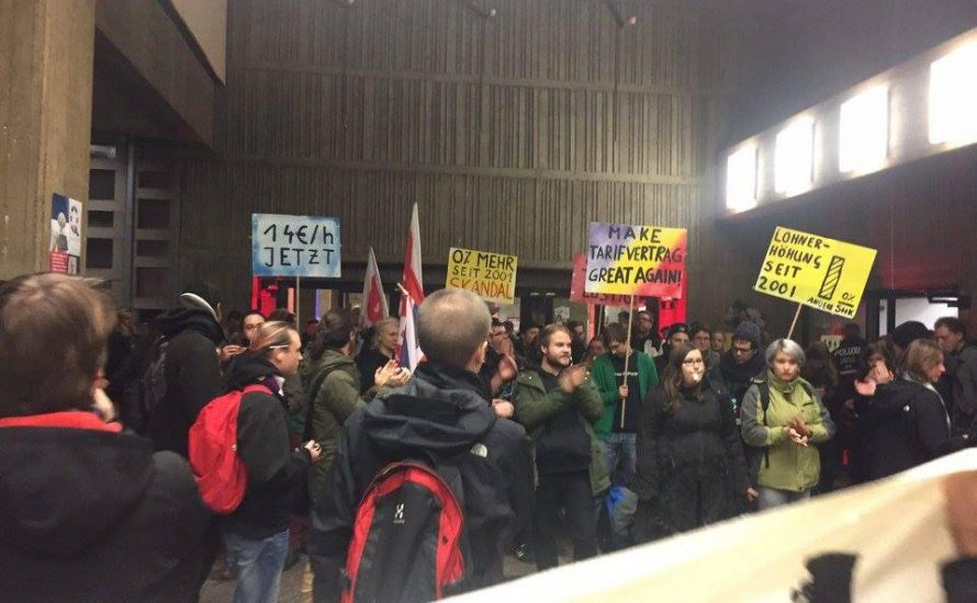 StuPa der FU Berlin verurteilt den Polizeieinsatz an der TU während einer TVStud Aktion