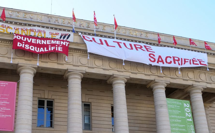 Kulturschaffende besetzen Theater in Frankreich