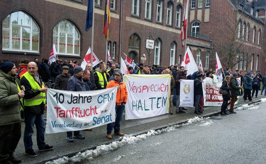 CFM-Streikende lassen sich nicht die Hände binden: Elf Euro sind nur der erste Schritt