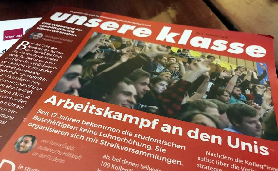 Unsere Klasse: Ein neues Flugblatt von und für kämpferische Kolleg*innen in Berlin