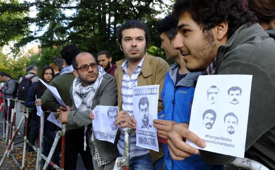 Hungrig nach Freiheit: Kundgebung vor Iranischer Botschaft