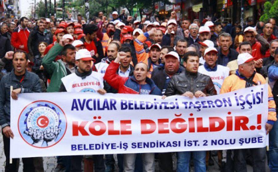 Reinigungsbeschäftigte aus der Türkei in Solidarität mit CFM-Streik