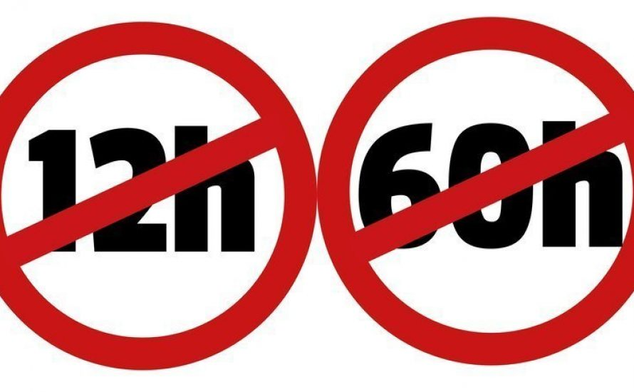 Gewerkschafter*innen fordern: Nein zum 12-Stunden-Tag und zur 60-Stunden-Woche!