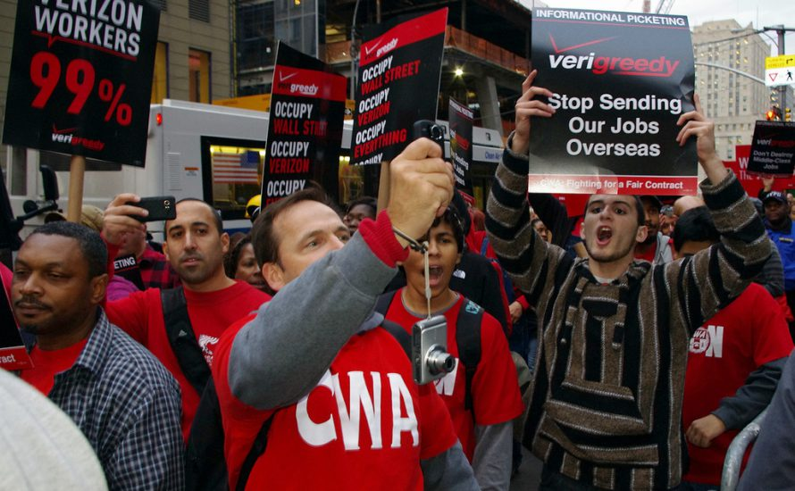 Streik bei Verizon: Arbeitskampf auf Amerikanisch