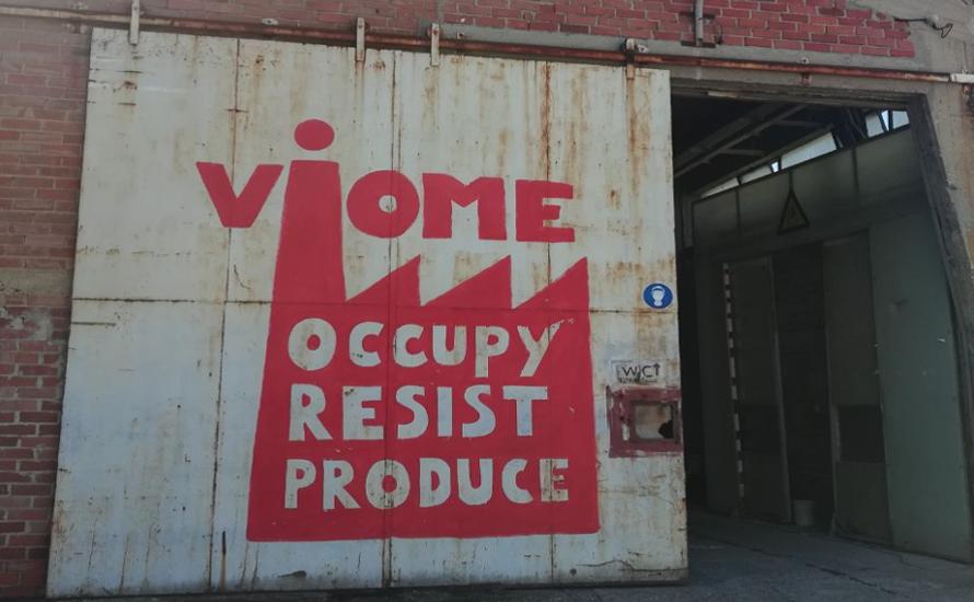 """""""Wie in der Militärdiktatur!"""" - Solidarität mit Vio.Me!"""