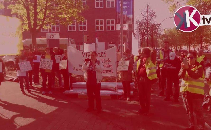 Vivantes: Prekär Beschäftigte protestieren vor dem Aufsichtsrat [vier Videos]