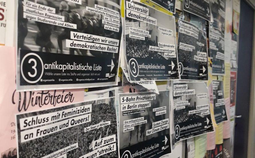Organize:strike gewinnt drei Sitze im Studierendenparlament der FU Berlin!