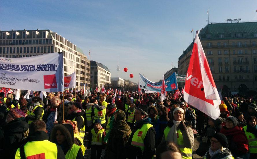 8000 Beschäftigte streiken in Berlin [mit Video und Fotogalerie]