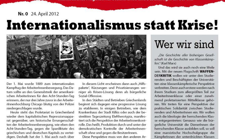 Neue Uni-Publikation: Waffen der Kritik