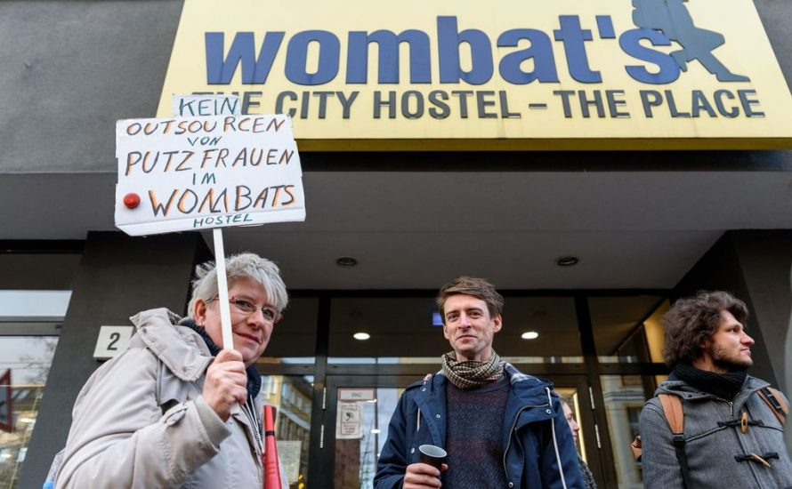 Proteste gegen Outsourcing bei Wombat's