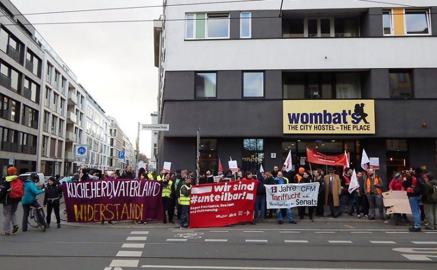 Wombats vor Gericht: Solidarisch gegen Union Busting!